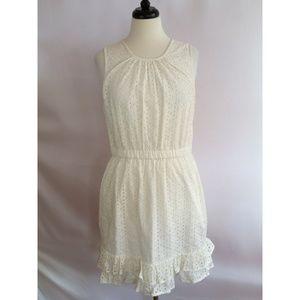 Peter Som Size 12 Off White Cream Eyelet Dress
